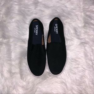 Sperry Top Sider - Leather Black slip on sneakers